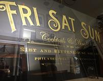 23k gold reverse window lettering