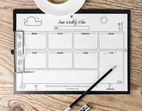 FREE CONTENT -June Weekly Planner