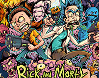 Rick and Morty T-Shirt Illustration