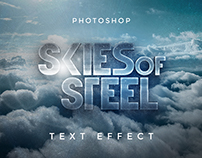 Free Skies of Steel Text Effect