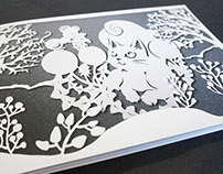 Paper cutting story book