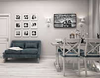 White and Blue - Neo Classic Interior