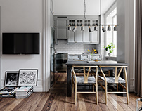 Scandinavian Apartment Design and Visuals