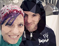 Polygonal Couples' Portrait