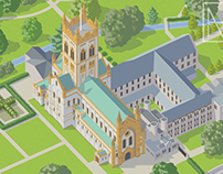 Buckfast Abbey visitor map