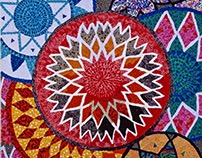 Swazi Baskets Fabric Mosiac