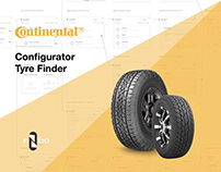 Continental / Task Flow for a Tyre Configurator