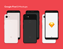 Google Pixel 3 Mockups - On Sketch App Resources Soon!