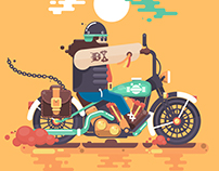 Animated Biker!