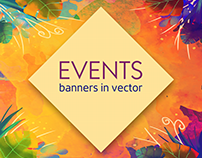 Banners in Vector for a Social Media