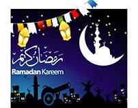 Vector arabic script Ramadan Greeting Beautiful Card