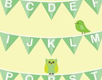 Babies First Alphabet Poster