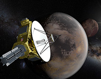 3D visualizations - New Horizons space mission to Pluto