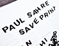 Paul Sahre Poster *Student project