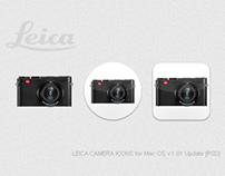 LEICA CAMERA ICONS for Mac OS v1.01 Update [PSD]