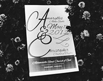 Chris & Amy's Wedding Program