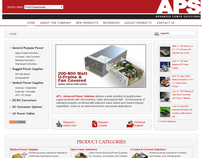Web Site for a Power Supply Company