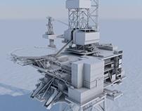 Dunbar oil rig - Model