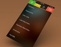 Coffee Machine app concept