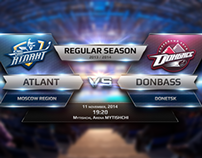 KHL Broadcast Graphics 2013-2014