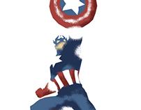Captain America Minimalist Splash poster