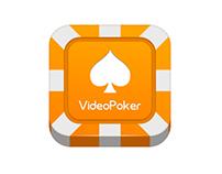 VideoPoker icon design