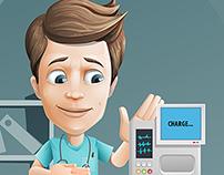 Medical Assistant Cartoon Character