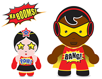 Ka-BOOMS! – Superhero soft toy character designs