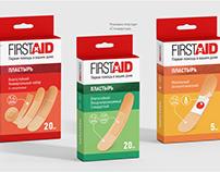 Иллюстрации для упаковки пластырей First Aid