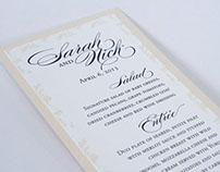 Sarah & Nick Wedding Stationery