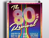 The 80s Revival Poster