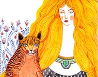 Marija and her cat
