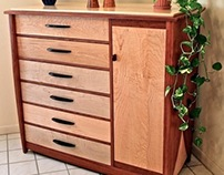 12 Drawer Dresser In Bubinga & Curly Maple