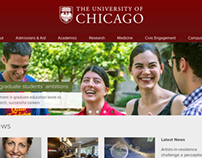 The University of Chicago homepage