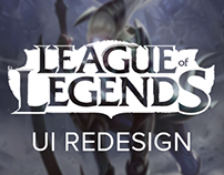 League Of Legends (champion page) - UI Redesign