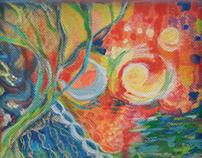 Aslan's Symphony No. 1 ~ Acrylic on Canvas 6x6