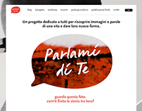 Parlami di Te - Digital design for an art event