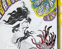Mermaid in my logbook of dreams