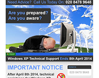 Windows Upgrade Campaign Email and Landing Page