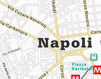 Mappa Topografica Vettoriale di Napoli