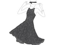 Fashion Illustration: Hunter Bell Lace Dress at Saks.