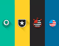 Shields Brazilian teams | Flat Design