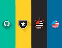 Shields Brazilian teams | Flat Design