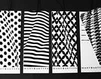 Сorporate identity salon design fabrics.