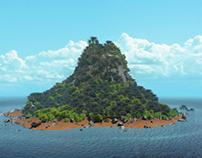 Blender Progress   Realistic 3D Island