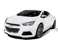 Chevy Tru 140S Concept Car Car Illustration