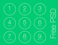 iOS7 Passcode Screen - free PSD