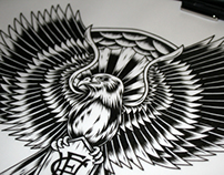 Hawthorn Hawks Tattoo Design