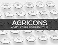 Agricons - Agriculture inspired set of icons.