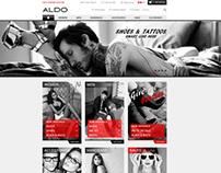 Aldo.com homepage redesign (Demo)